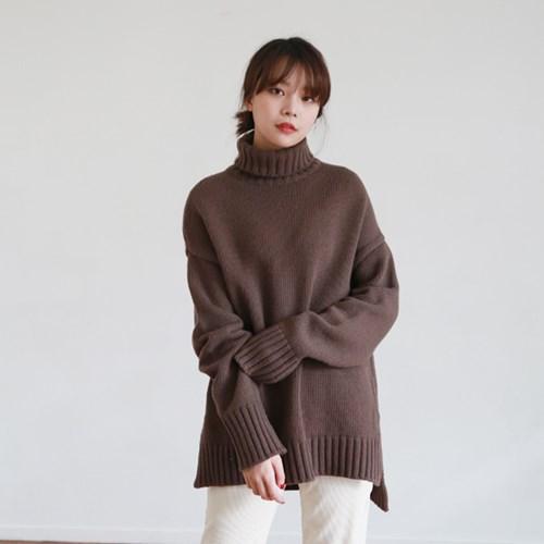 [MONDAY STUDIO] Daily turtleneck wool knit