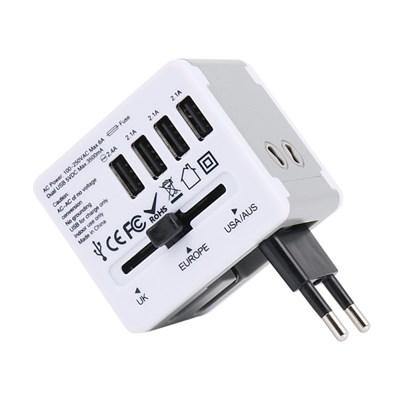 아이넷 JY-192 해외여행용 멀티아답터(3.5A USB 4포트)+파우치