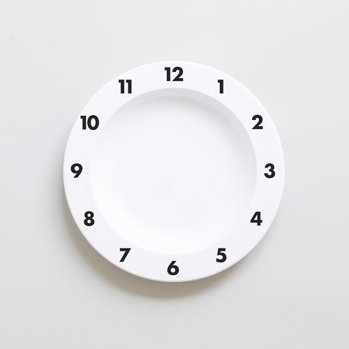 [Buddy+Bear] Dinner Time-Plastic Plate, Black (BBTW027)