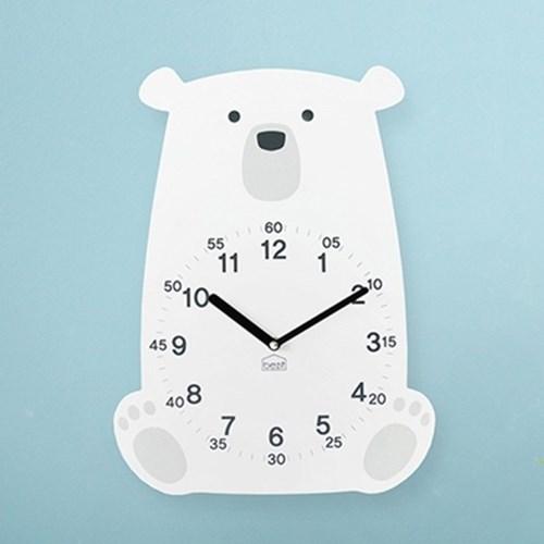 [BEZIT] 러블리 북극곰 무소음 벽시계