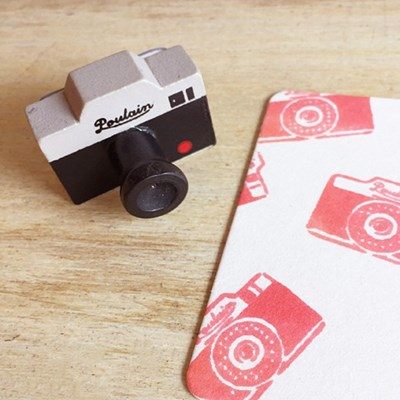 카메라 스탬프 - Poulain
