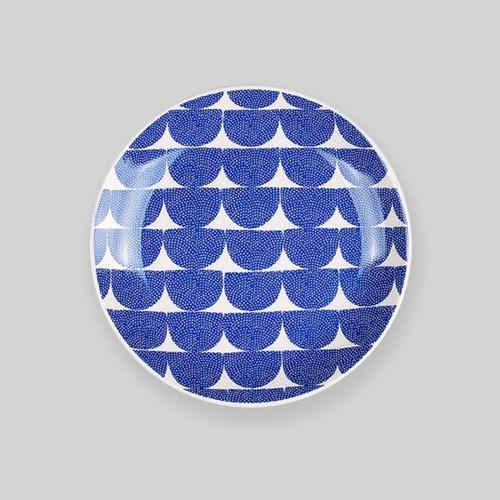 Night sea wave 6 plate