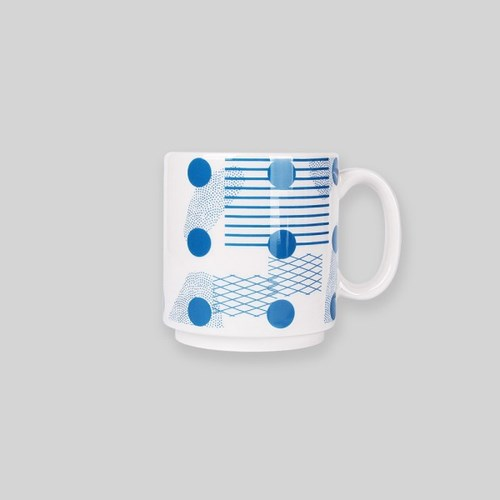 Ocean blue island mug