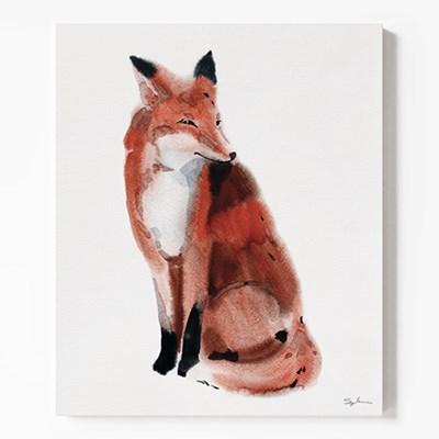 캔버스 패브릭 동물 그림 인테리어 액자 여우 수채화