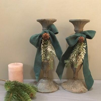 겨울 빈티지 리본 촛대