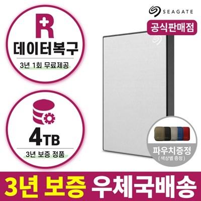 씨게이트 New Backup Plus Portable Rescue Sliver 4TB 외장하드