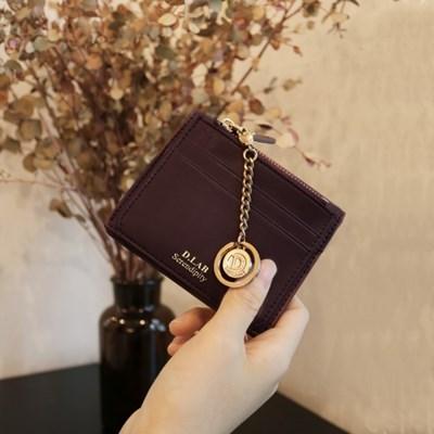 [★별자리 키링 증정] D.LAB Coin name card wallet - Burgundy