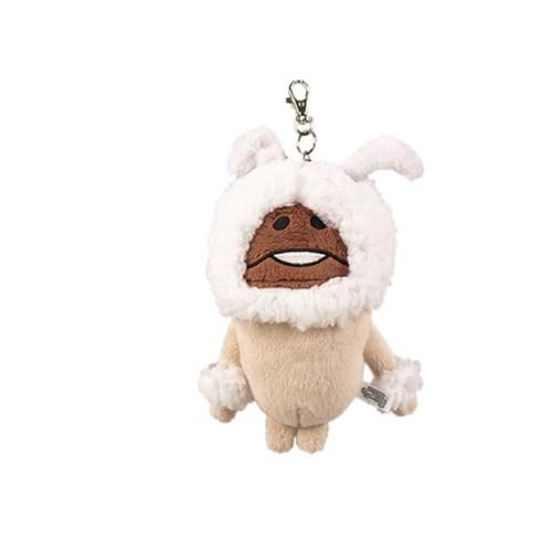 나메코 봉제 카드케이스-흰토끼_(575833)