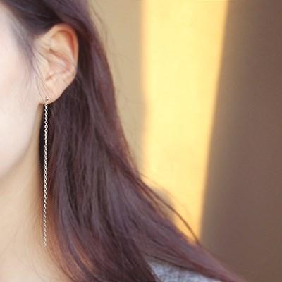 [하우즈쉬나우] James Joint Silver long chain Earrings