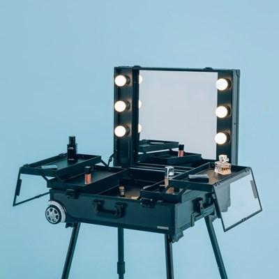 [라쏨] LED 조명 수납화장대 마이퍼펙트데이 블랙