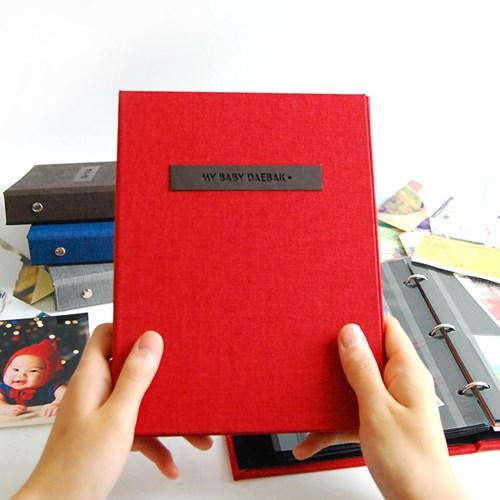 THE MOMENT 제이로그 접착식앨범X스크랩북 바인더-레드