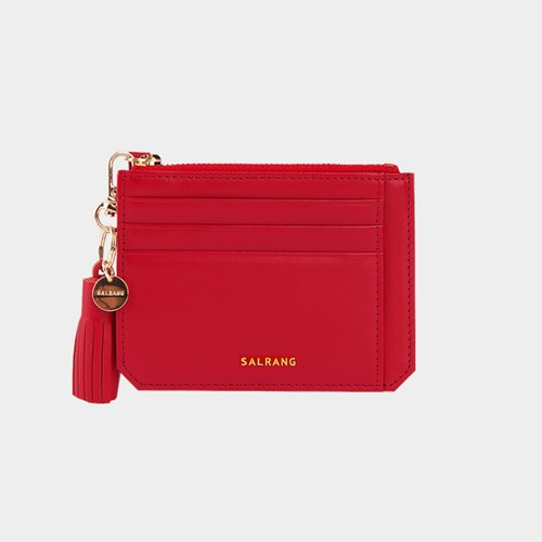 [태슬증정][살랑]Dijon M201 Flap mini Card Wallet cherry red