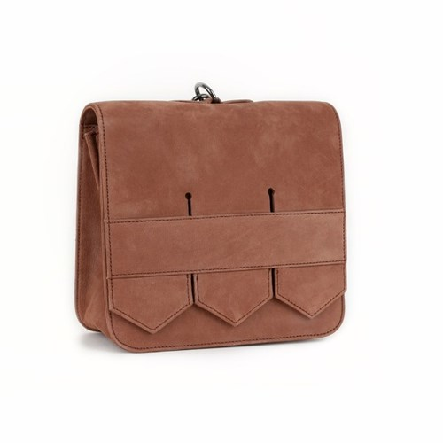 Modern fringe mini bag _Brown
