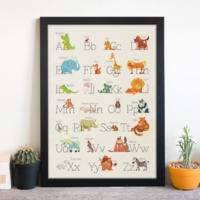 키즈 패브릭 포스터 / 교육용 베이비 포스터(미디움사이즈)
