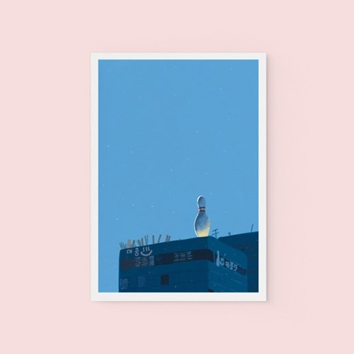볼링핀 - POSTCARD