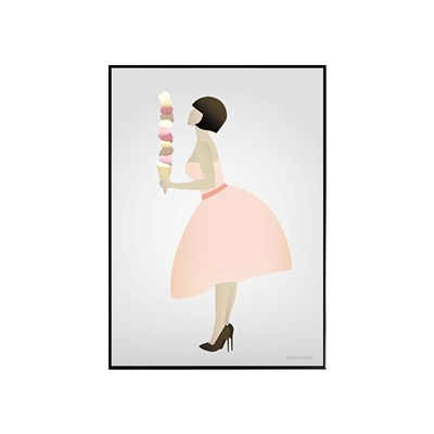 EPOK- 아이스크림 소녀 framed
