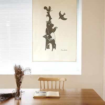 코니테일 패브릭 포스터 - 동물친구들 (아이방꾸미기, 인테리어소품)