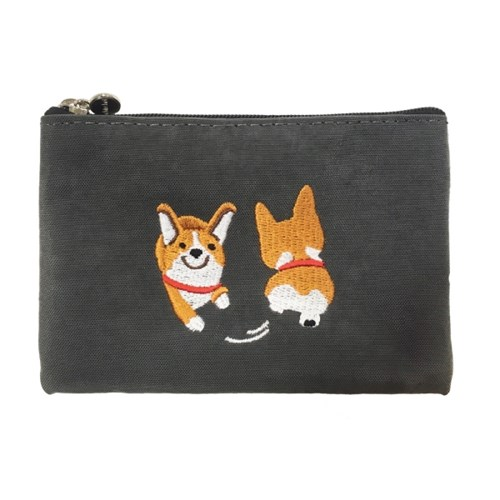 happy corgi pouch