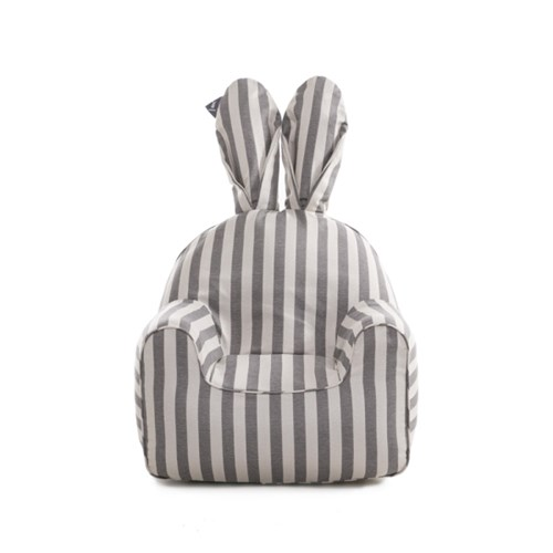 rabito chair small set (gray stripe cover+sky white inner)