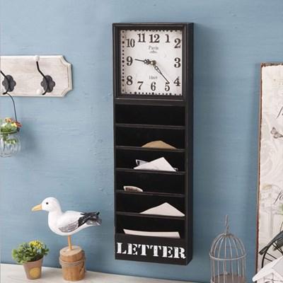 원목 수납형 벽걸이 시계