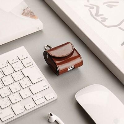 한스마레 애플 에어팟 케이스 - 브라운