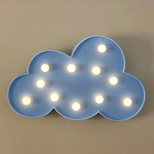 이비자 구름 블루 램프 마퀴라이트조명