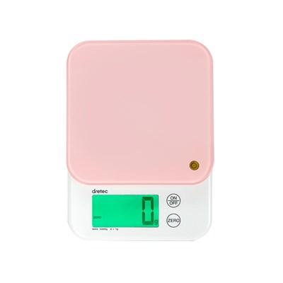 드레텍 5KG 전자저울-핑크 KS-514PK