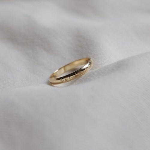 14k Gold Initial Ring