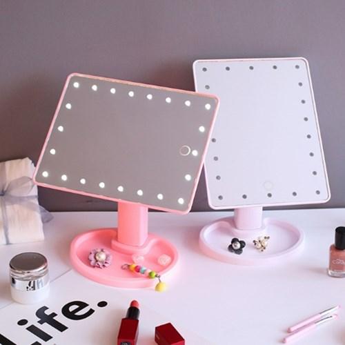 더 밝아진 LED 라이트 데스크 거울