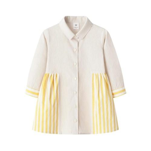 노랑 포인트 셔츠원피스