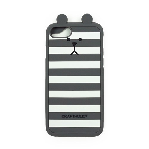 크래프트홀릭 Shell Cover for iPhone 7 (GRAY BORDER SLOTH)
