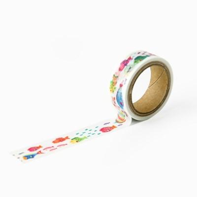 [AIUEO] Masking tape katanuki - fish