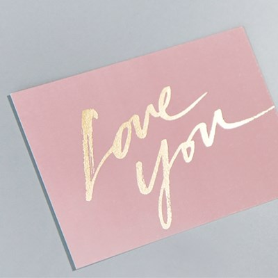 LOVE YOU CALLIGRAPHY MESSAGE CARD (봉투set)