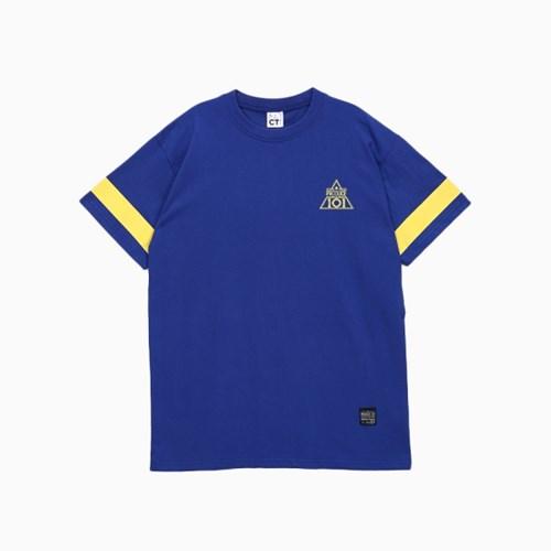 프로듀스 101 - 스트라이프 반팔 티셔츠_BLUE (전사필름)