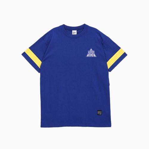 프로듀스 101 - 스트라이프 반팔 티셔츠_BLUE (패치)