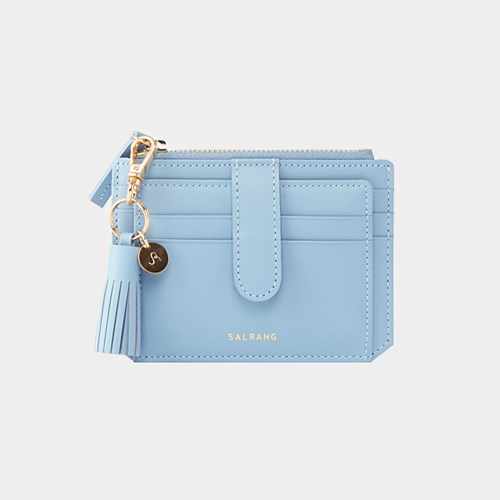 [태슬증정][살랑]Dijon 301S Flap mini Card Wallet powder blue