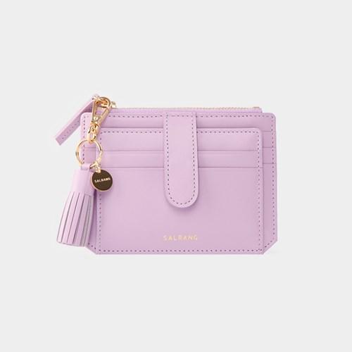 [태슬증정][살랑]Dijon 301S Flap mini Card Wallet lilac blossom