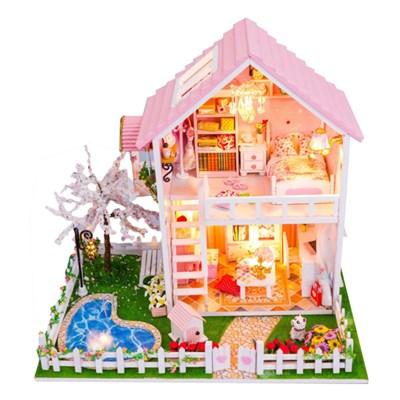 [adico] DIY 미니어처 풀하우스 - 핑크 벚꽃 하우스_(671267)