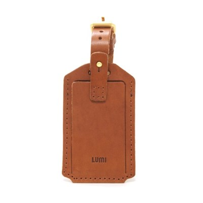 Amos Travel Tag Cognac