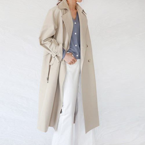 [MONDAY STUDIO] Daily side button trench coat