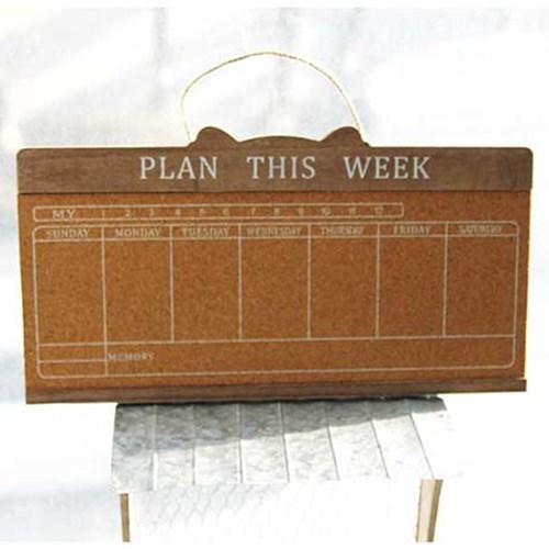 코르크 주간계획표