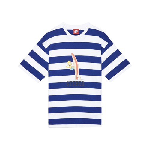 [SS16 Simpsons] Summer Striped S/S Tee(BLUE)_(536246)