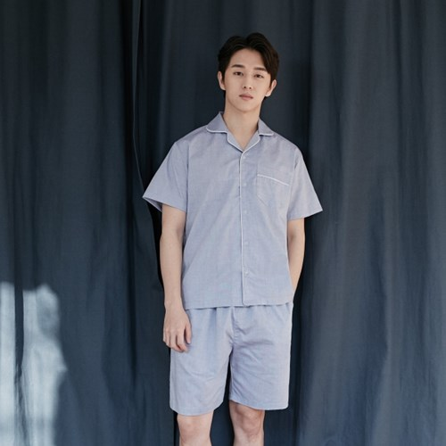 [m] Chambray Short PJ Set