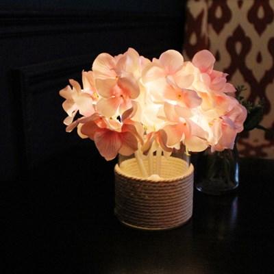 핑크 수국 LED 조명