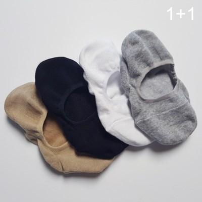 [1+1] 베이직 코튼 훼이크 삭스 cotton fake socks