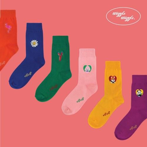 [위글위글] Funky Socks (6종)