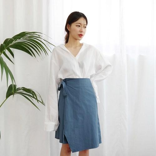 Feminine wrap skirt