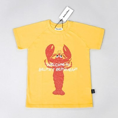 Lobster Yellow T-shirts (for Kids)