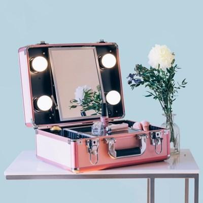 [라쏨] LED 조명 미니화장대 마이러블리데이 핑크
