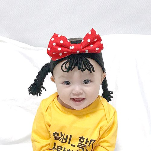 [유호랑] 써니밴드-아기가발 밴드
